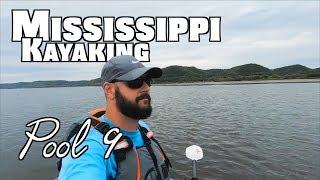 Kayaking the Mississippi: 20 Miles Down Pool 9 (Old Town Fishing Kayak)
