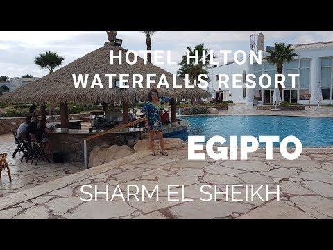 Hotel *****Todo Incluído Hilton Waterfalls Resort, Sharm, Egipto.TuristGuide Oslo