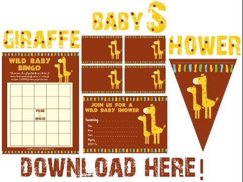 Giraffe Baby Shower Decorations U0026 Invitations!