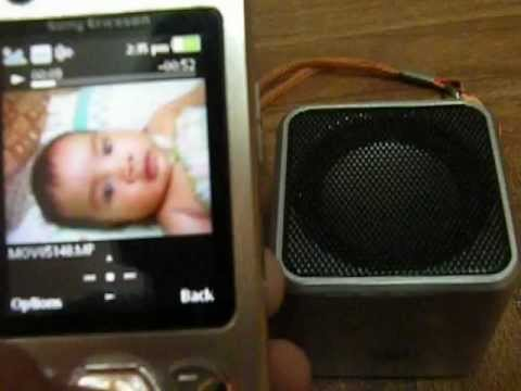 Sony Ericsson w890i & Music angel bluetooth speaker.AVI