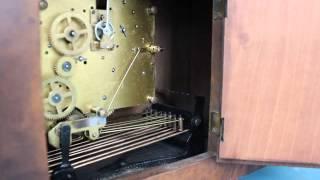 Kienzle St Michael Chime Antique Mantel Clock Germany Shelf