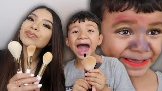 HILARIOUS MAKEUP RACE WITH A 6 YR OLD!!