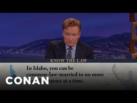 You Can't Marry More Than Two Potatoes In Idaho  - CONAN on TBS