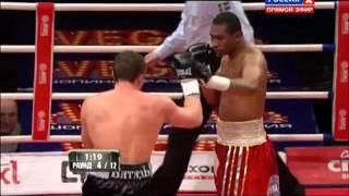 Нокаут  Денис Лебедев укладывает Сантандера Сильгадо   Смотреть бокс онлайн Самые свежие бои 2015