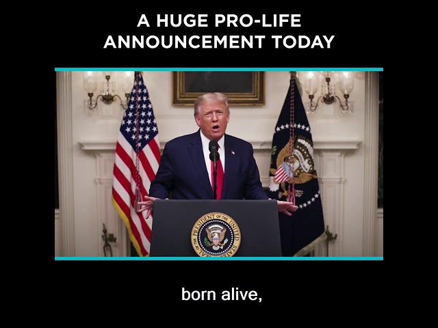 A Huge Pro-Life Announcement Today