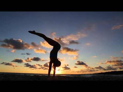 Kino Yoga Handstand, Sunrise in Miami Beach