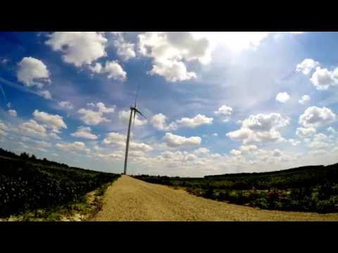 Wind Turbine 2.0. 2 Sec Timelapse 4K.  ( Cool Cloud Movement )