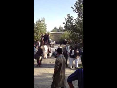 A tribal dance in Babur's gardens