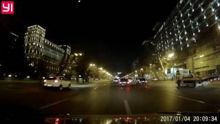 Видеорегистратор Xiaomi Yi Compact. Баку, ночь.