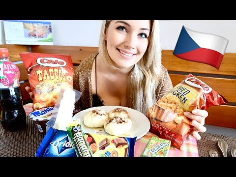 American Girl Tries Czech Food   Blueberry Dumplings, Candy, Kofola, and more!