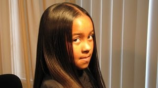 Thermal Relaxing a Child's Hair Using the Best Flat Iron in the World!