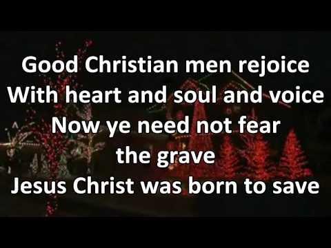Good Christian Men Rejoice - Instrumental with Lyrics (no vocals)