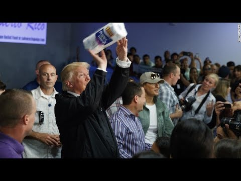 Trump Shoots Paper Towels To Puerto Ricans @Hodgetwins
