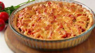 Открытый Мясной пирог на картофельном тесте. Простой рецепт