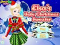 Disney Frozen Games- Elsa's Ugly Christmas Sweater- Online Dress Up Fashion Games for Girls Kids