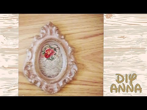Decoupage Shabby Chic Picture Frame Diy Ideas Decorations Craft