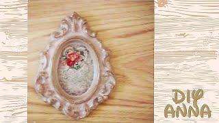 decoupage shabby chic picture frame DIY ideas decorations craft tutorial / URADI SAM
