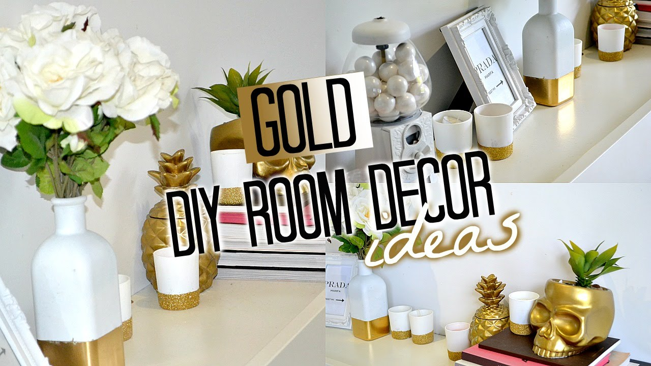 DIY Room Decor! GOLD | Tobie Hickey   YouTube