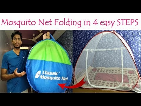 Mosquito Net Folding In 4 Easy Steps | How To Fold Classic Mosquito Net Single Bed 🔥🔥