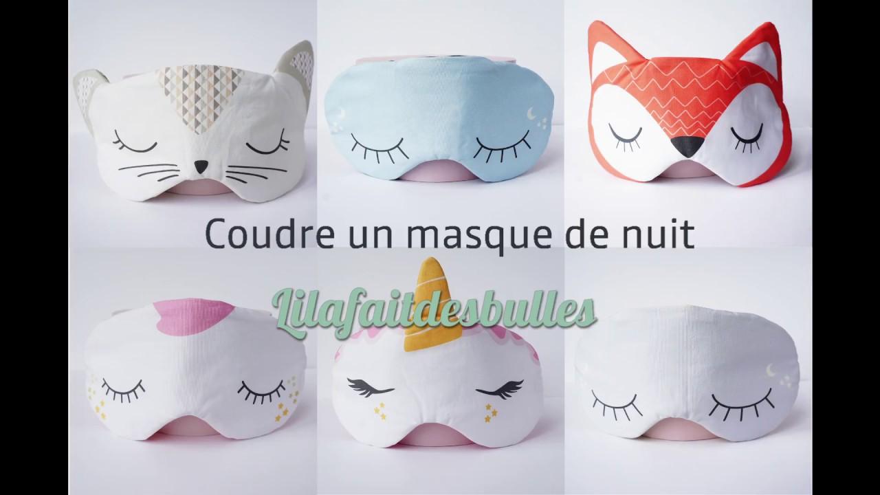 sur des coups de pieds de sortie d'usine usa pas cher vente Tuto Couture Masque de nuit #lilafaitdesbulles