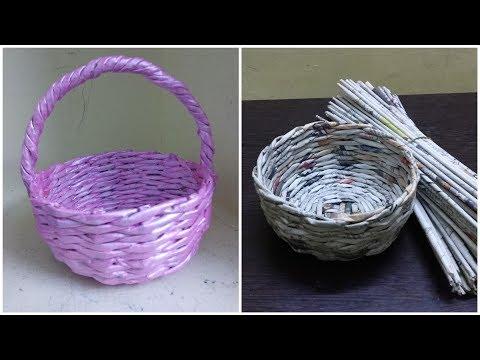 how to make newspaper basket newspaper weaving
