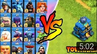 MAX TH12 VS ALL TROOPS|| COC ATTACK||