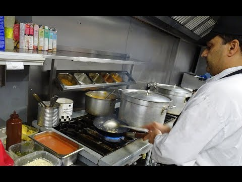 "Paneer Bhurji & Mix Veg Sabji Recipes + Laccha Paratha at ""Punjab Curry & Grill"" Restaurant, London."