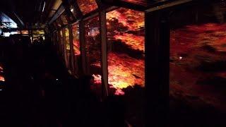叡山電鉄 市原~二ノ瀬間「もみじのトンネル」きらら車内より  Tunnel of the maples, Eizan Railway, Kyoto (2019.11)