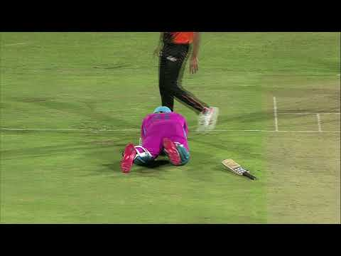 Albie Morkel takes a big hit