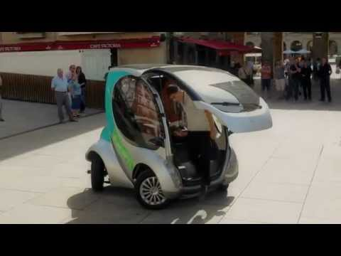 Hiriko folding electric car - Complete Demo