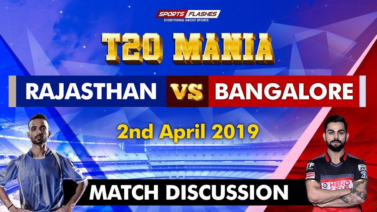 Rajasthan vs Bangalore T20 | Live Scores and Analysis | SportsFlashes