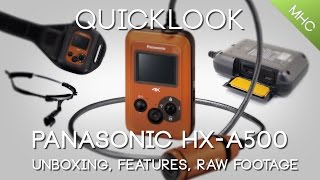 Quicklook Panasonic's HX-A500 4k Action Camera