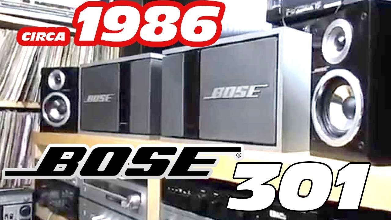 VINTAGE BOSE SPEAKERS BOSE 301 SERIES 2 DIRECT REFLECTING SPEAKERS ...