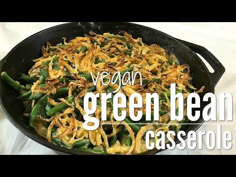 Vegan green bean casserole | Thanksgiving classic
