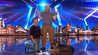 Britain's Got Talent 2019 Dave & Superdog Finn Full Audition S13E04