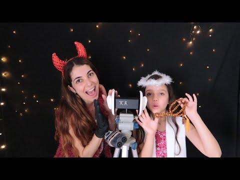ASMR 3Dio: Anjinho e Diabinho nas suas orelhas! Feat. Luiza aro top