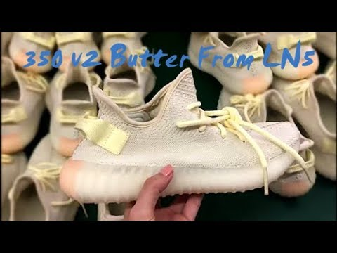 ff1222bdf2906 The best reps Yeezy 350 V2 Butter from LN5 - YouTube