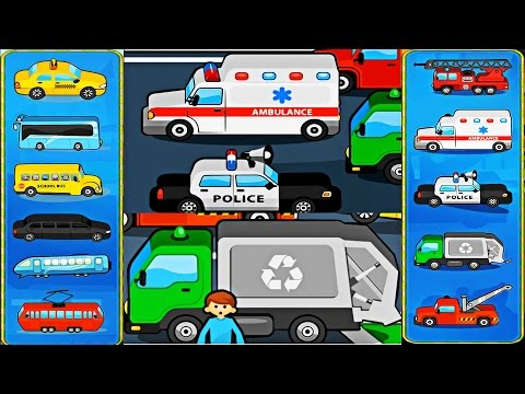 Street Vehicles - Transport for Kids   Learning videos   Vehicle for Kids