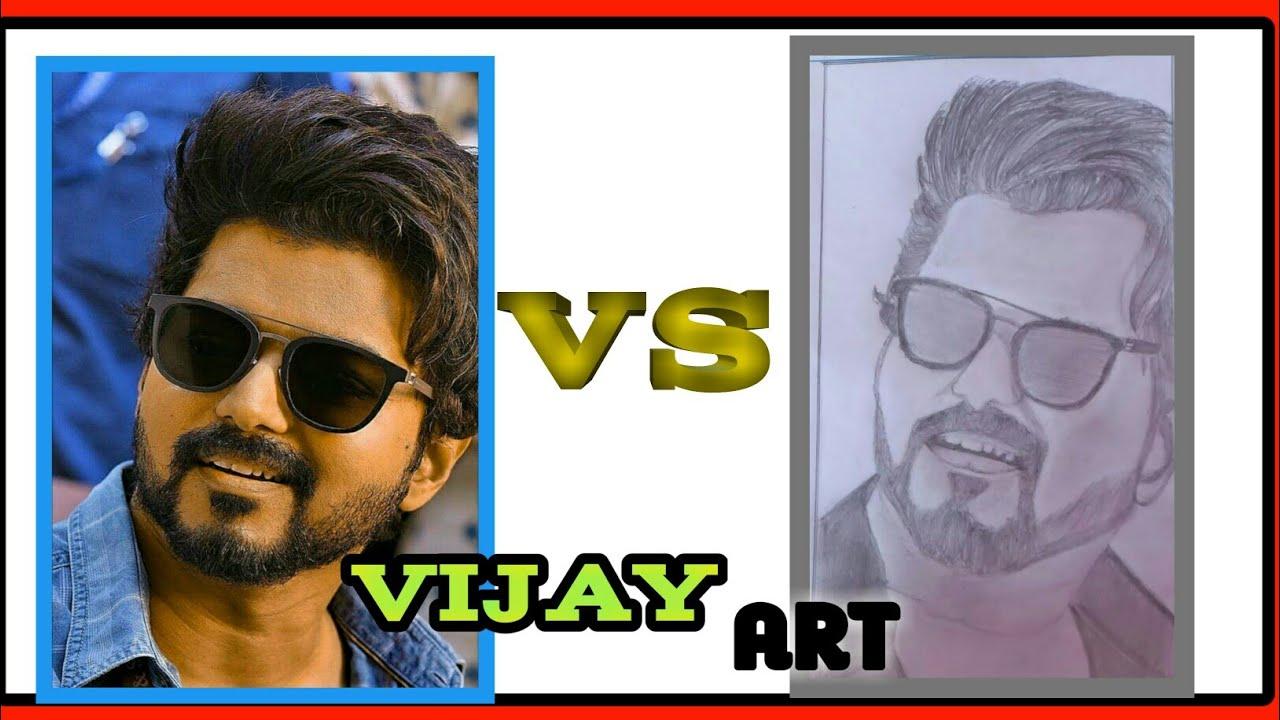 Thalapathy vijay | master | pencil drawing .. - YouTube