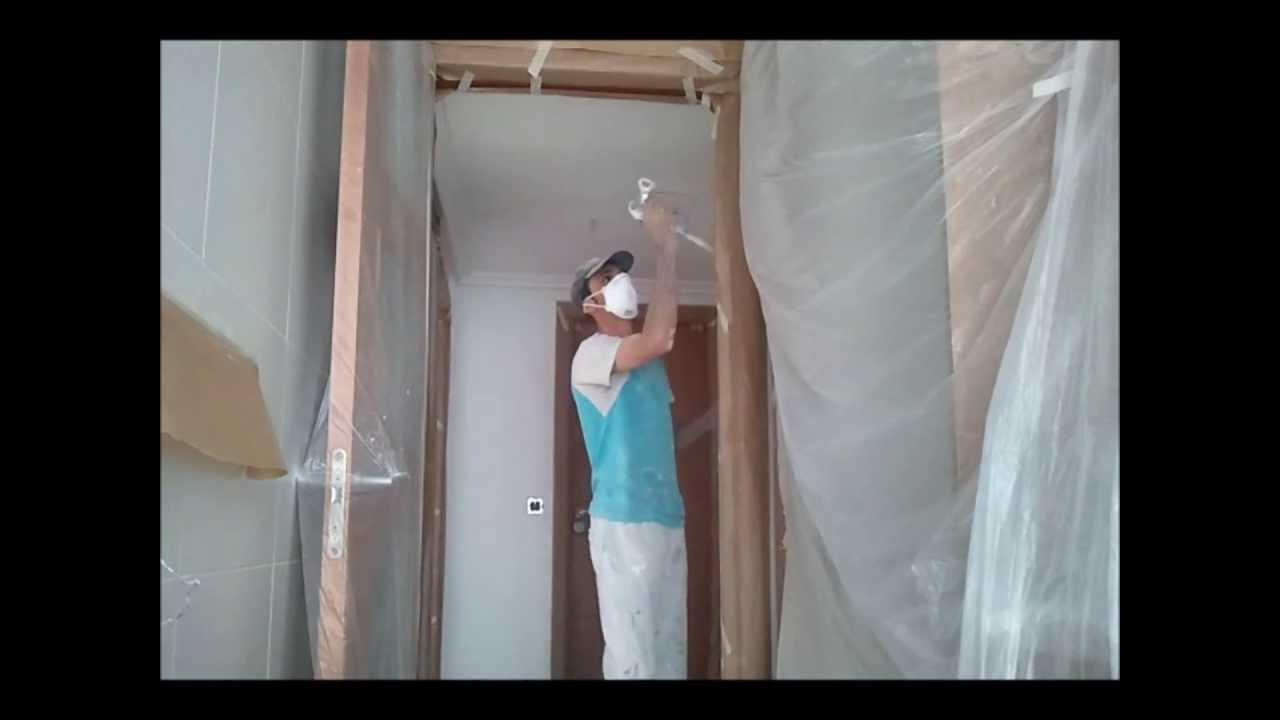 Como pintar techos a pistola airless pinturas urbano youtube - Como pintar el techo ...