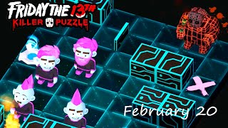 Friday the 13th: Killer Puzzle - Daily Death February 20 Walkthough (iOS, Android)