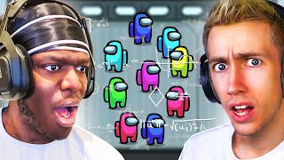 SIDEMEN play AMONG US but everyone has -200 IQ (Sidemen Gaming)
