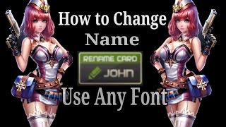 """Crisis Action """"How to change name use any font"""""""