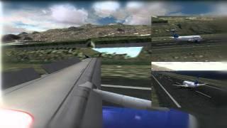 [FS2004] A320 Condor landing in La Palma  (HD)