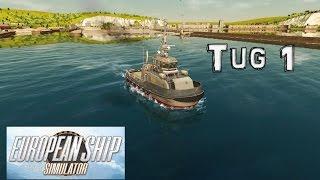 European Ship Simulator Gameplay: I Tug off a Cargo Ship...