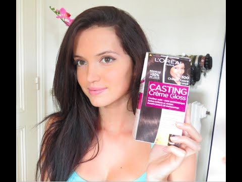 se colorer les cheveux la maison youtube - Coloration Casting Crme Gloss