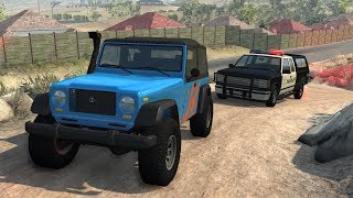 Off-Road Vehicles Police Chases | BeamNG.drive
