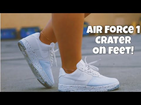 "Tengo una clase de ingles Neuropatía profundamente  NEW NIKE AIR FORCE 1 ""CRATER"" FOR THE LADIES AKA SOAK... - YouTube"