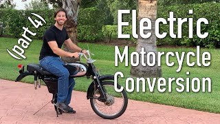 DIY electric motorcycle conversion (Part 4: motor/battery)