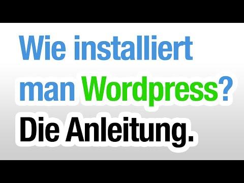 Wie installiert man WordPress? (Anleitung) 2015